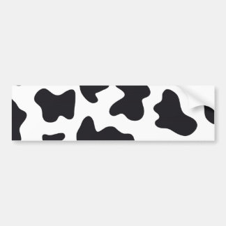 Cow Print Car Bumper Sticker