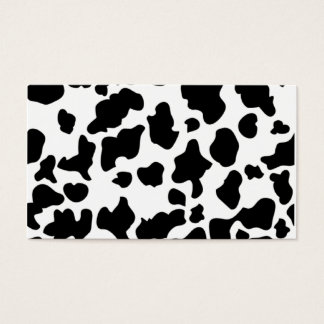 Cow Print Business Card