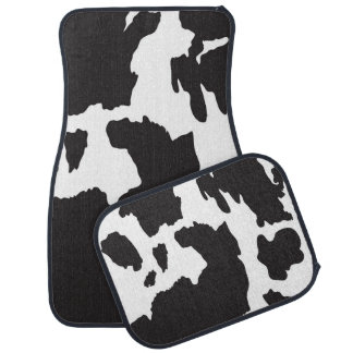 Cow Print Car Floor Mat