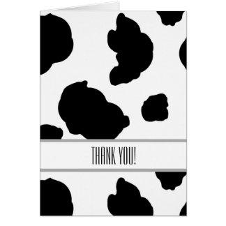 Cow Print Card