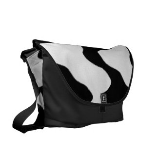 Cow Print Courier Bag