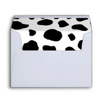 Cow Print, Cow Pattern, Cow Spots, Black And White Envelope
