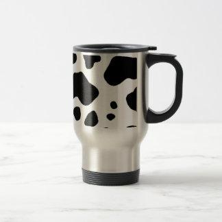 Cow print design travel mug