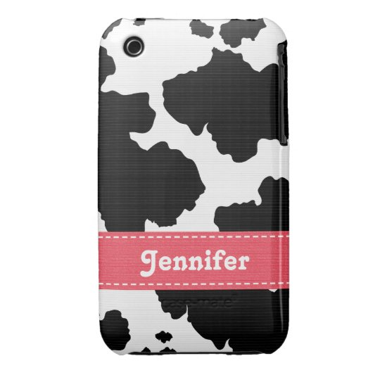 Cow Print iPhone 3 Case Mate Pink