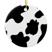 Cow Print Ornament