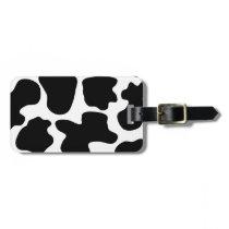 Cow Print Pattern Bag Tag