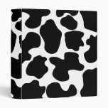 Cow Print Pattern Binder