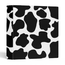 Cow Print Pattern Binder