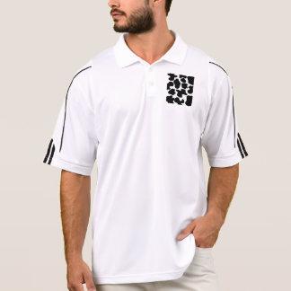 Cow Print Pattern Polo Shirt