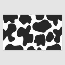 Cow Print Pattern Rectangular Sticker