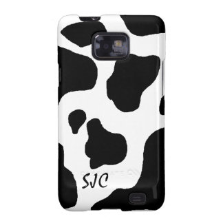 Cow Print Pattern with Your Initials Samsung Case Galaxy S2 Covers