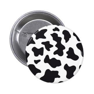 Cow Print Pinback Button