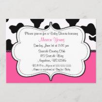 Cow Print Pink Invitaiton Invitation