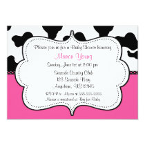 Cow Print Pink Invitaiton Invitation