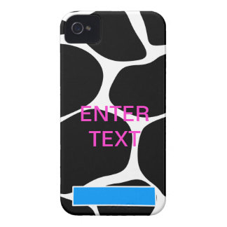 Cow print pink text iPhone 4 cover