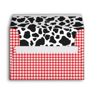 red envelopes zazzle Pattern for Scrapbooking Envelope Mini cow print red plaid envelope a7 size 5x7 card