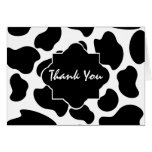 Cow Print Thank You Greeting Cards