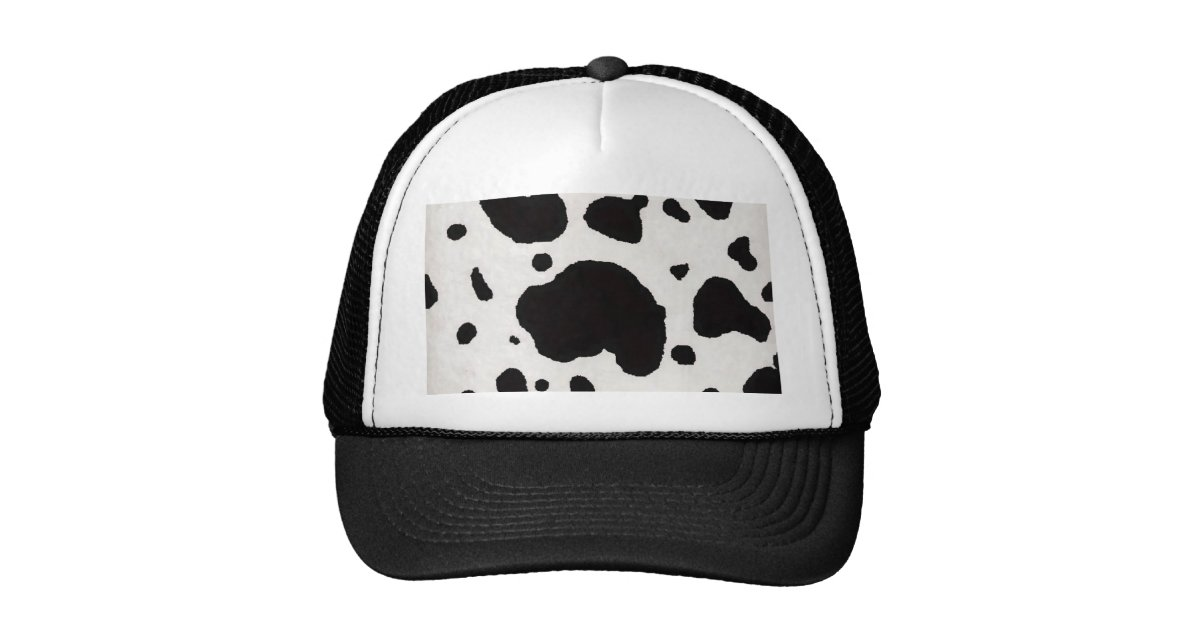 Mesmerizing image within printable cow hat