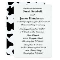 Cow Print Wedding Invitations