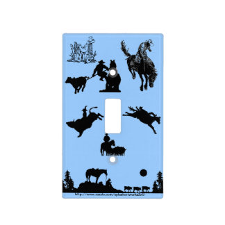 """""""Cow-puncher"""" Light Switch Plates"""