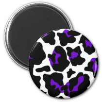 cow purple magnet