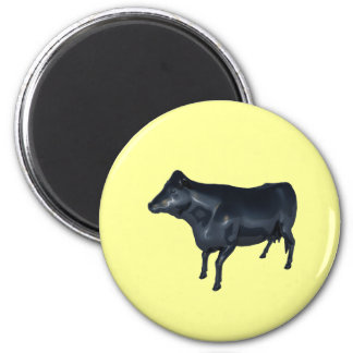 Cow reflecting refrigerator magnet