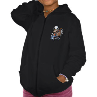 Cow Riding A BBQ Girls Hoodie