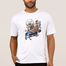 Cow Riding A BBQ Mens Active Tee