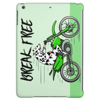 Cow Riding A Motorcyle Cover For iPad Air