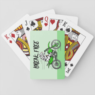 Cow Riding A Motorcyle Playing Cards