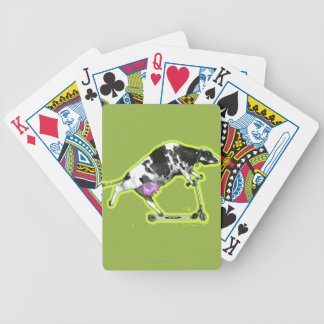 Cow Riding a Scooter Bicycle Playing Cards