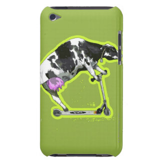 Cow Riding a Scooter iPod Touch Case-Mate Case