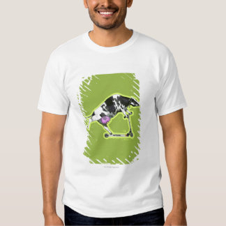 Cow Riding a Scooter Tee Shirt