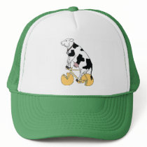 Cow Riding Bike With Cheese Wheel Wheels Trucker Hat