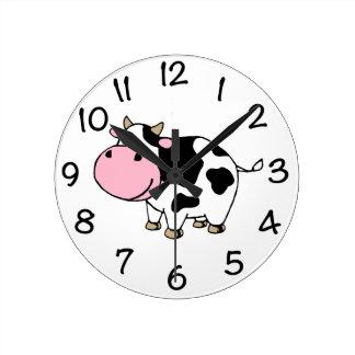 Cow Round Clock