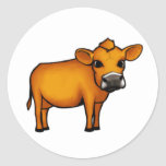 Cow Round Stickers