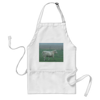Cow Running Adult Apron