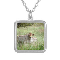 COW RURAL QUEENSLAND AUSTRALIA SILVER PLATED NECKLACE