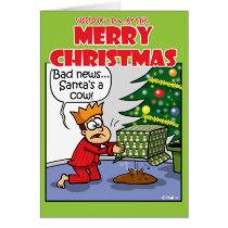 Cow Santa Card