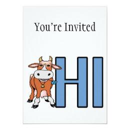 Cow Says Hi Card
