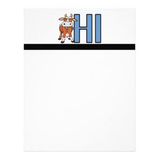Cow Says Hi Letterhead
