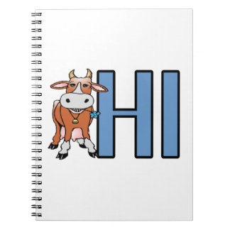 Cow Says Hi Notebook