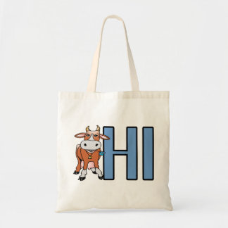 Cow Says Hi Tote Bag