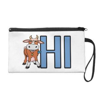 Cow Says Hi Wristlet