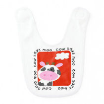 Cow Says Moo Baby Bib