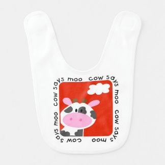 Cow Says Moo Baby Bib