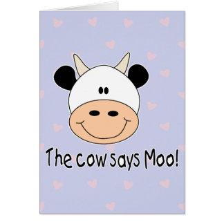 Cow Says Moo Card