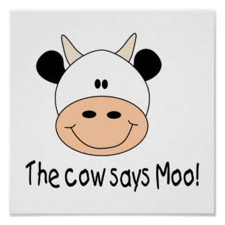 Cow Says Moo Poster