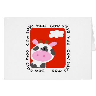 Cow Says Moo Tshirts and Gifts Card