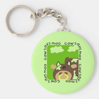 Cow Says Moo Tshirts and Gifts Keychain